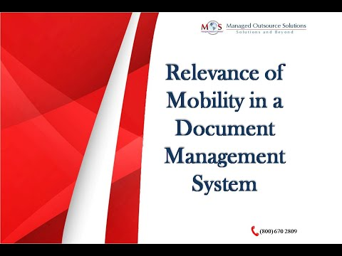 Relevance of Mobility in a Document Management System