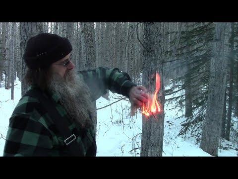 Winter Bow Drill Fire For Deep Snow