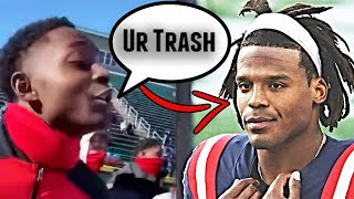 Cam Newton's Trash Talking Kid REACTS TO VIRAL VIDEO of Them Arguing
