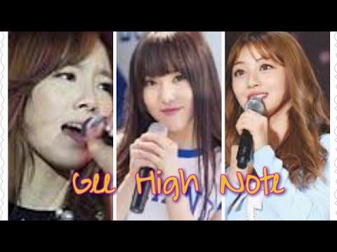 Taeyeon vs Yuju vs Jihyo hit High note