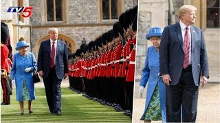 Donald Trump's walk with the Queen Elizabeth Becomes Contr..