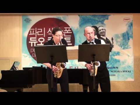 Duo de saxophone de Paris- Sonate en ut de J-M Leclair