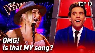 TOP 10 | COACH SONGS surprise The Voice coaches