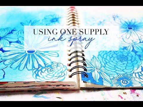 using one supply- ink spray
