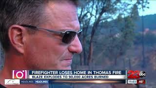 Ventura County Fire Captain loses his home in Thomas Fire