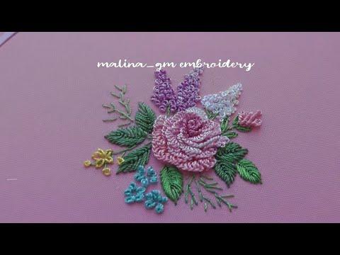 Brazilian Embroidery |  Rose Cast-on stitch | 20 petals