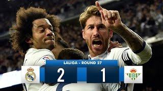 Real Madrid 2-1 Real Betis HD Full Match Highlights (12/03/17)