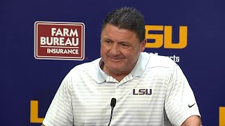 Ed Orgeron on his fiery NSFW locker room speech after win over Alabama
