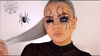 EASY SPIDER ILLUSION HALLOWEEN MAKEUP TUTORIAL!
