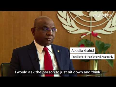 Part 2   Climate and women's rights high on agenda for new UN General Assembly chief Abdulla Shahid