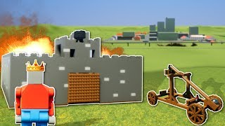 BATTLE TO BECOME KING?! - Brick Rigs Gameplay - Medieval Castle Battle Roleplay & Nuke!