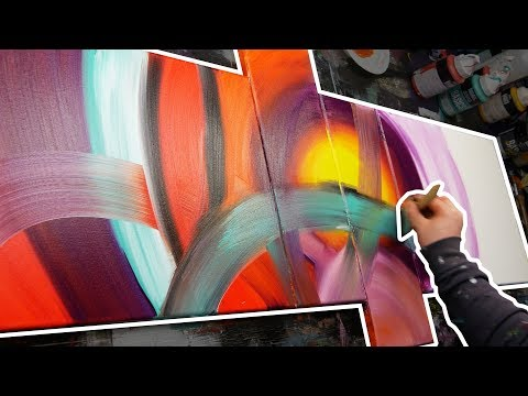Acrylic Painting Tutorial | How To Paint an Abstract Painting | Speedart Demonstration  | Extricare
