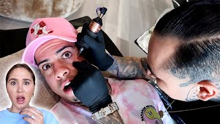 TATTOOING MY SON'S NAME ON MY FACE!!!