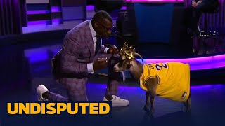 Shannon Sharpe celebrates LeBron & the Lakers' NBA title with a special guest | UNDISPUTED