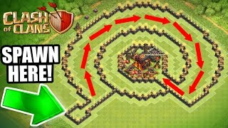 """Clash Of Clans - INSANE """"NO NAME"""" TROLL BASE!! - CAN IT BE BEATEN!?!"""