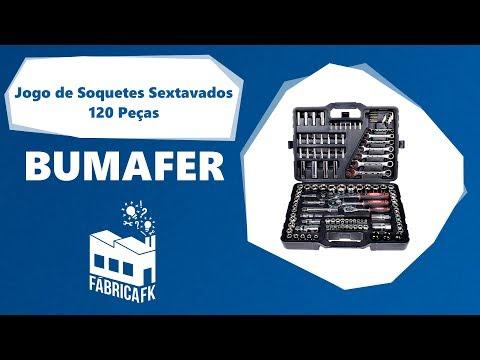 Jogo de Soquetes Sextavados 120 Peças Bumafer - Vídeo explicativo