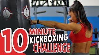 NON-STOP Fat Shredding HIIT Workout (Cardio Kickboxing Routine)