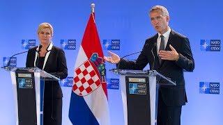 NATO Secretary General with the President of Croatia Kolinda Grabar-Kitarović, 14 JUN 2018