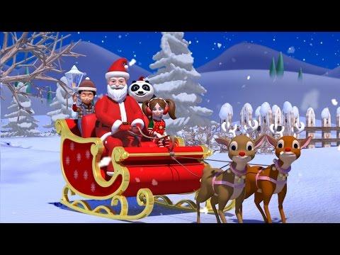 Jingle bells | Christmas song with Santa Claus | Nursery rhymes | Kids songs | Kiddiestv