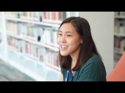 screenshot of youtube video titled Local library provides connection point for healthcare