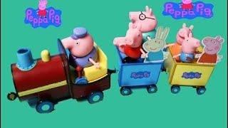 ̣Đồ Chơi Peppa Pig  Xe Tàu Lửa Xinh Đẹp Của Gia Đình Nhà Heo Peppa Pig  Peppa Pig' & Cartoon Movies