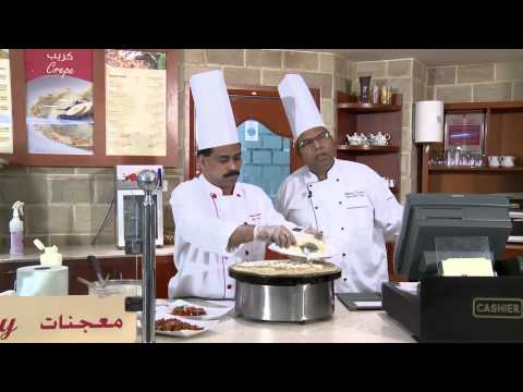 Al Bustan Centre & Residence - Making a Savory Crepe with Chef Bhanu Kumar