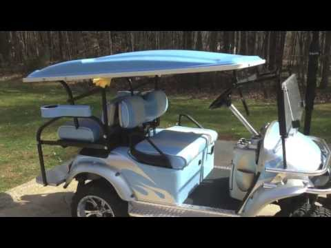 Adjustable Height Golf Cart Roof Reg Youtube