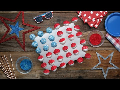 American Flag Cake Pops To Make Your July 4th Sparkle ?Tasty