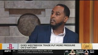 The Jump 7/15 | Amin Elhassan EXPECTATIONS Does Westbrook trade put more pressure on D'antoni?