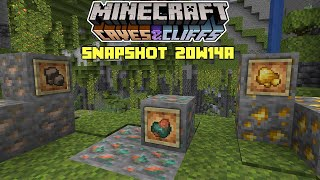 Minecraft: NEW ORES! Raw gold, Iron & Copper - 1.17 Snapshot 21w14a