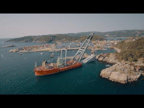 Time-lapse movie shows submersion of Snøhetta's underwater restaurant