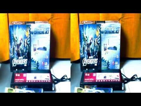 3D EXTREME Set UNBOX | LG BD420 + Gadgets (YT3D)