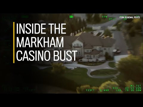 Il video del blitz della Polizia nel casinò di Markham