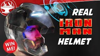 Metal Iron Man Helmet WITH DISPLAY! + GIVEAWAY