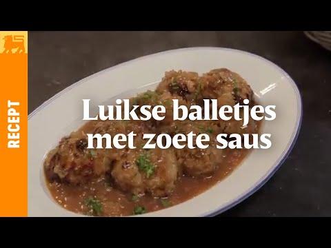 Luikse balletjes met zoete saus