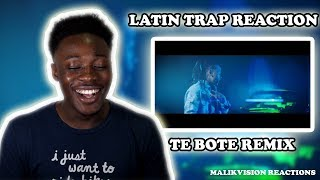 AMERICAN REACTS TO LATIN TRAP ( Te Bote Remix REACTION )