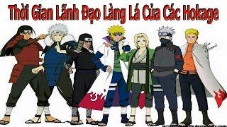 Top Naruto - Thời Gian Lãnh Đạo Làng Lá Của Các Hokage