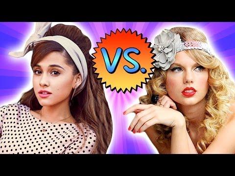 TAYLOR SWIFT vs. ARIANA GRANDE - Retro Fashion Battle!