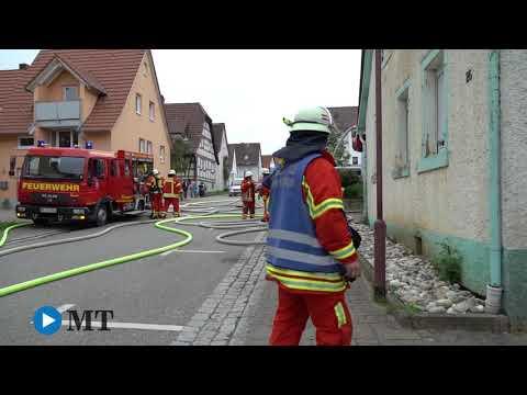 Scheunenbrand in Kleinvillars