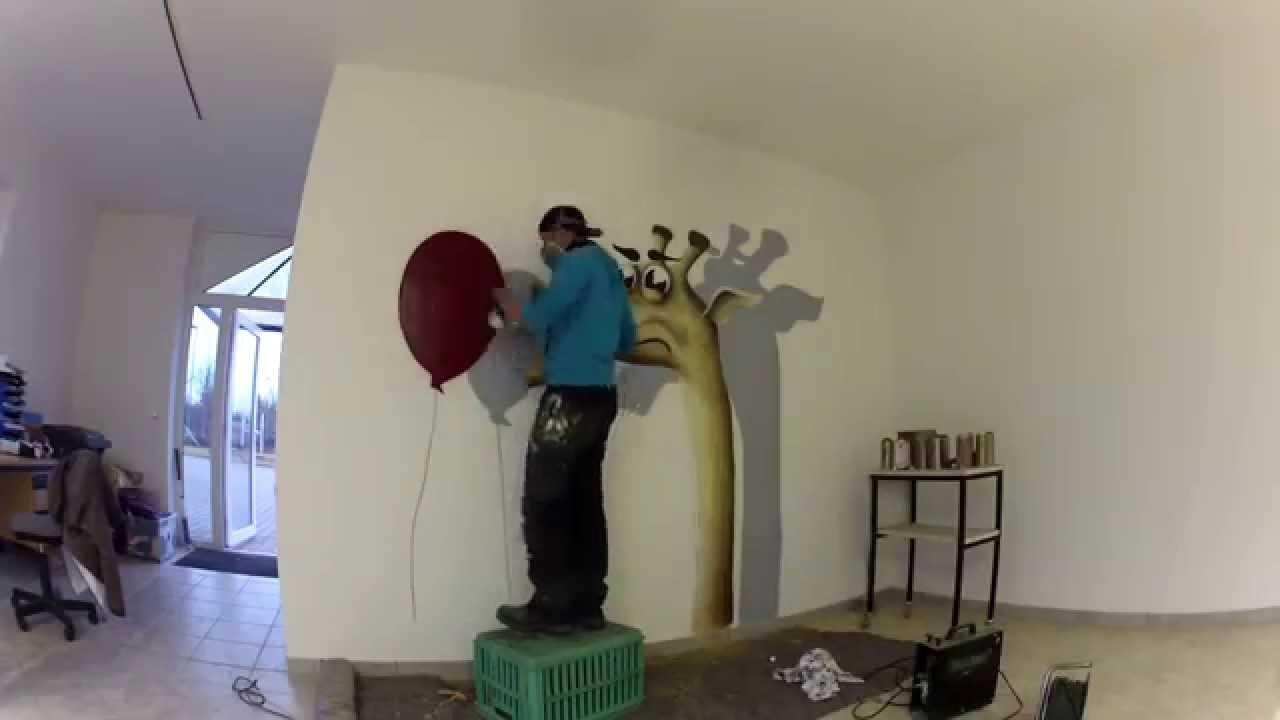 graffiti kinderzimmer gestaltung uv effekt youtube. Black Bedroom Furniture Sets. Home Design Ideas