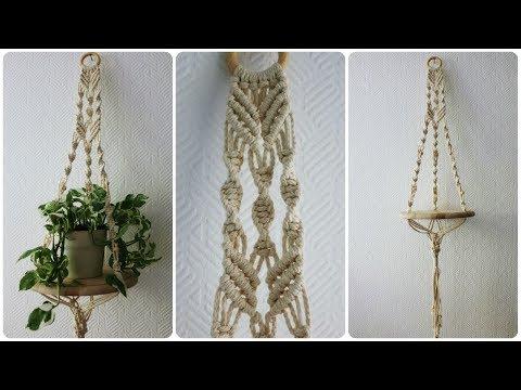 Makramee Blumenampel #4 * DIY * Macrame Plant Hanger [eng sub]