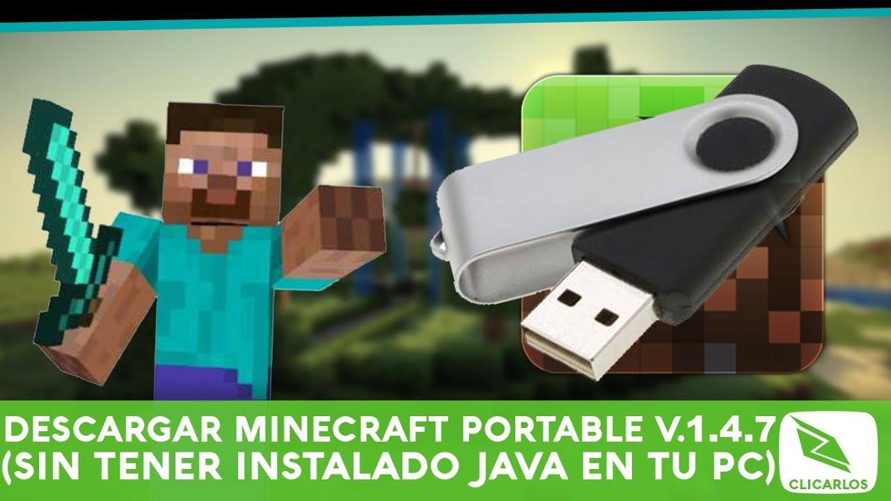 descargar minecraft portable gratis