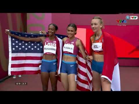 Olympic Tokyo 2020 | Sydney McLaughlin (Mỹ) lập kỷ lục thể giới mới tại nội dung 400m rào nữ | VTV24