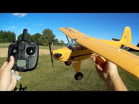 WLToys XK A160 Skylark Flying Model Piper Cub Flight Test Review