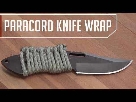 Quick Release Paracord Wrap For Your Knife