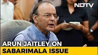 Sabarimala row: Jaitley sees constitutionalists-devotees d..