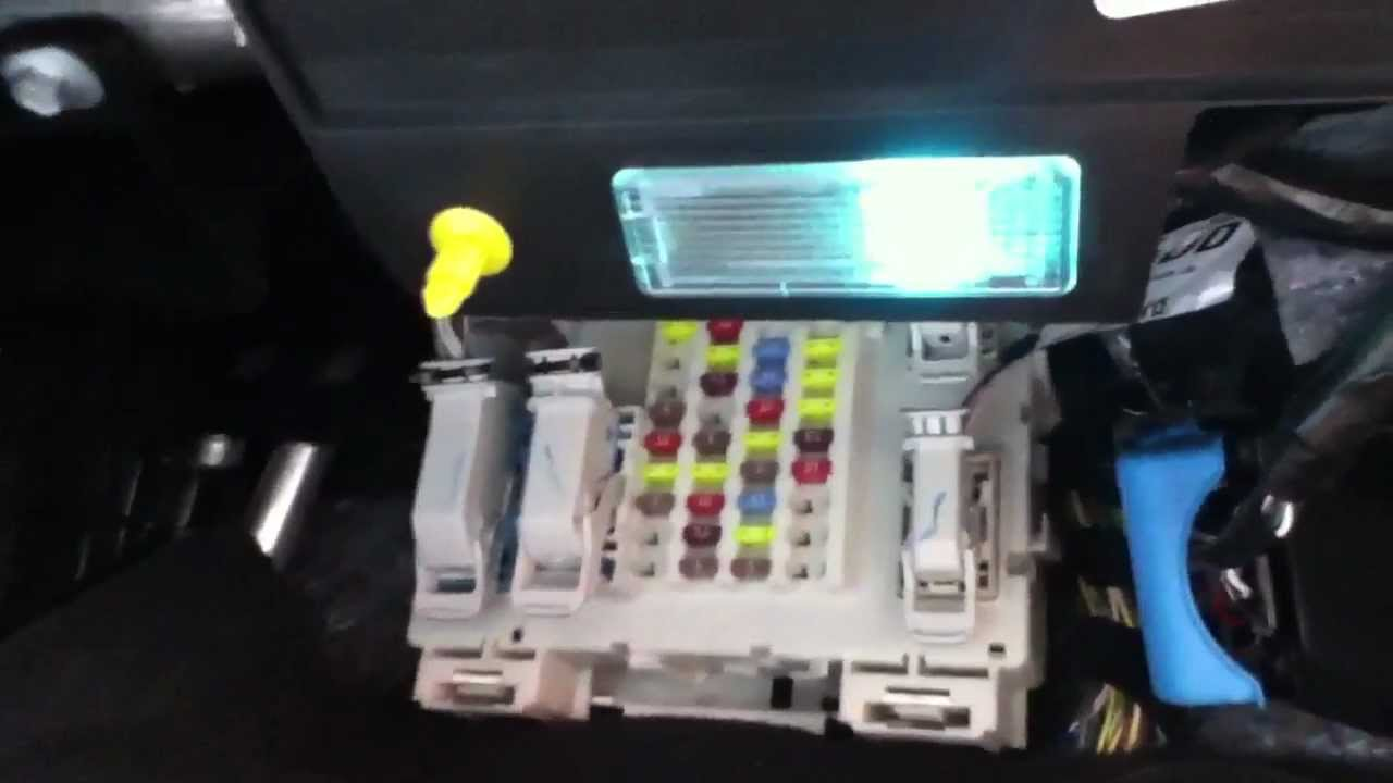 fuse box location in a 2013 ford focus youtube. Black Bedroom Furniture Sets. Home Design Ideas