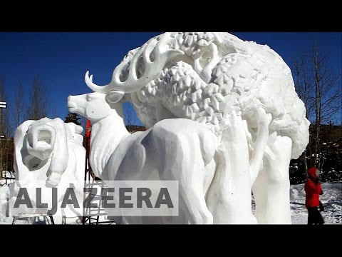 World's snow sculpting competition begins in Colorado