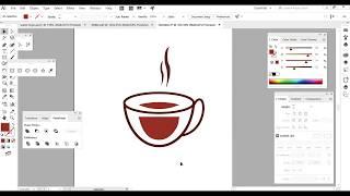 Adobe Illustrator Tutorial   How To Make coffee Logo Design Style