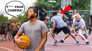 Trash Talker Doesn't Give A F*** About The Cameras! 5v5 Basketball In Charlotte!